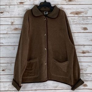The North Face Brown Button Up Jacket Size Large